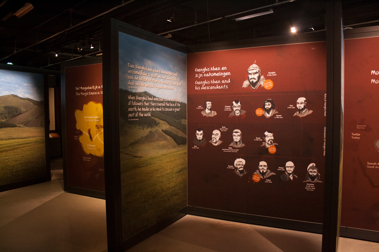 The family tree section of the exhibition